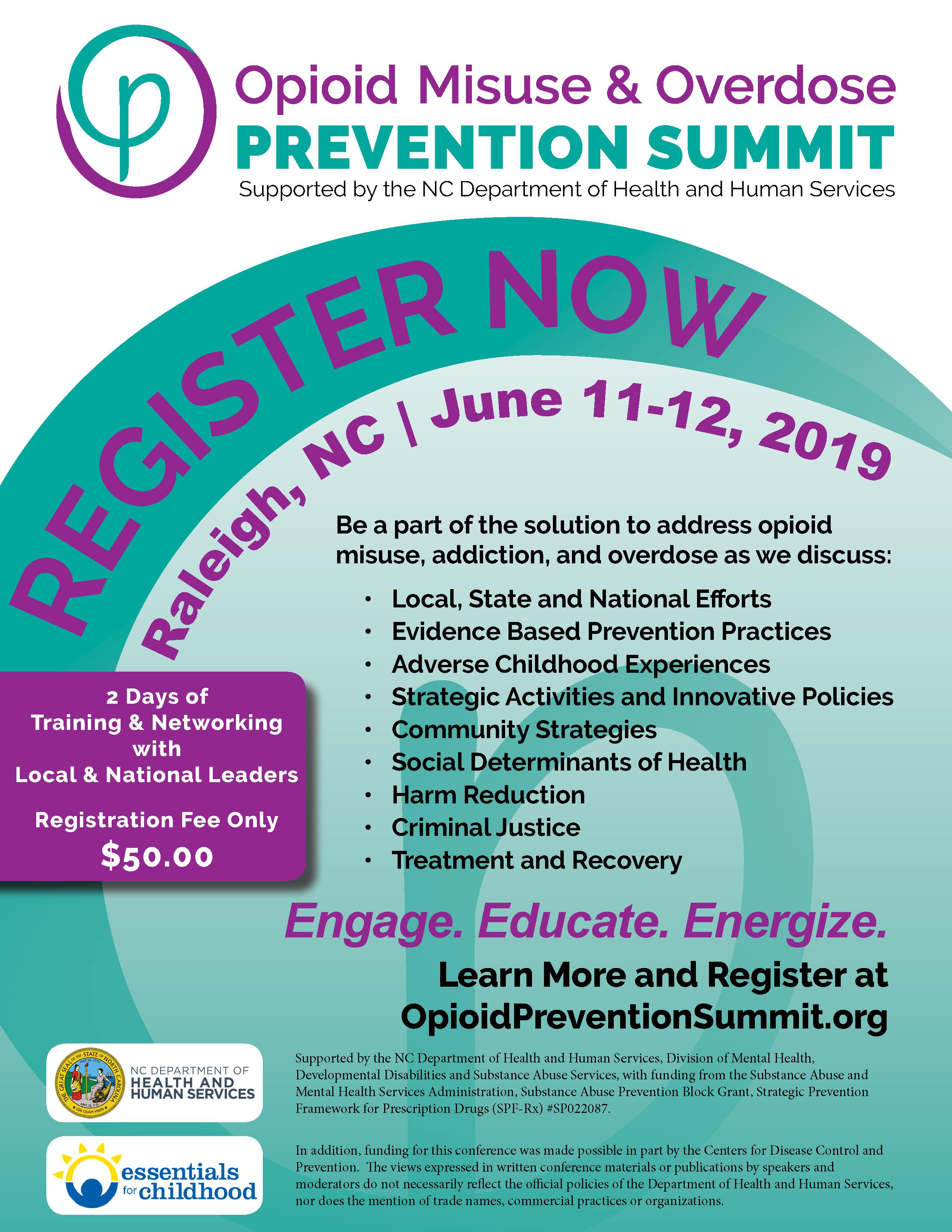 Opioid Summit 2019 | June 11-12, 2019 | Register Now